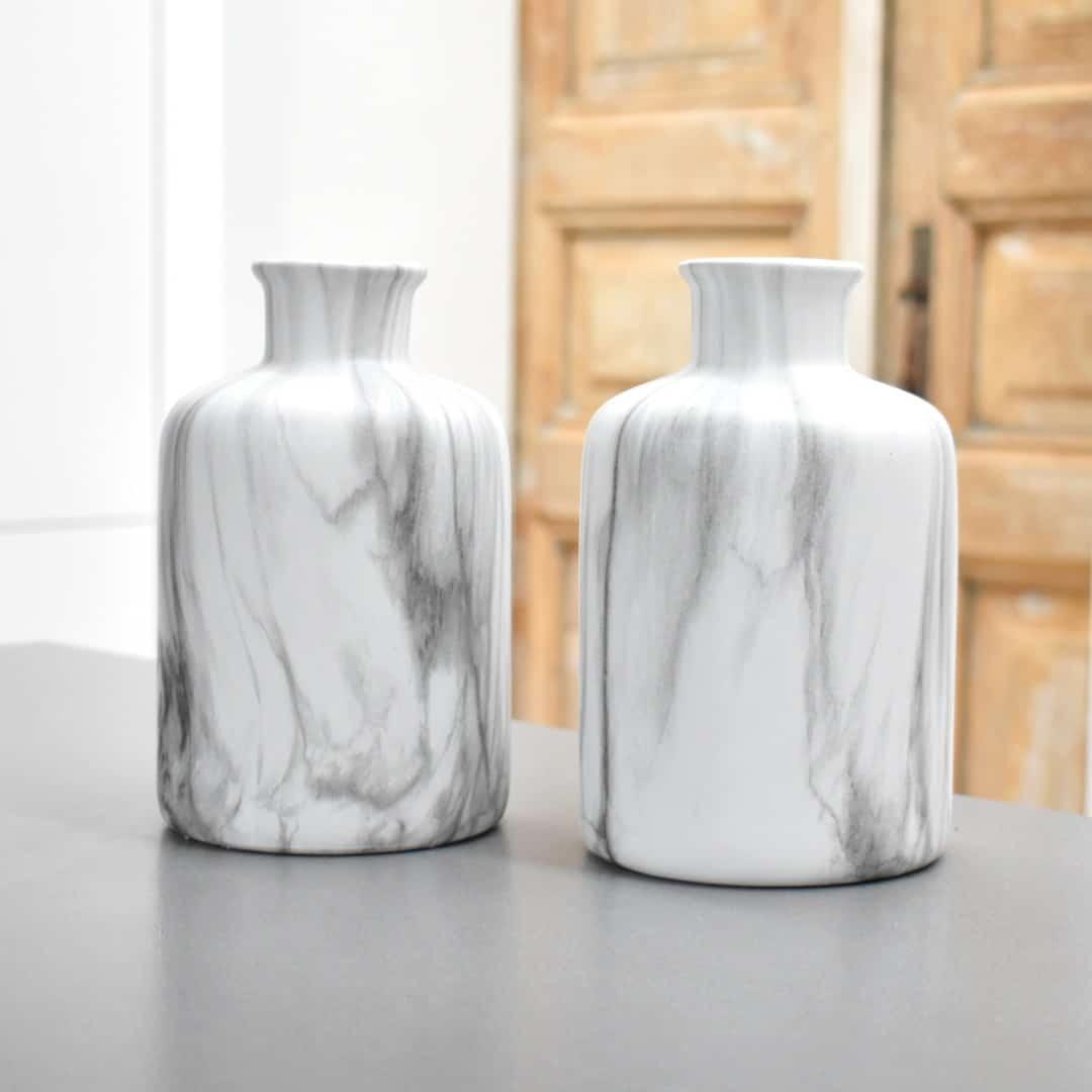 Vaas marmer & white (2)